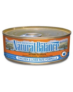 Natural Balance Canned Cat Food - Chicken & Liver Paté