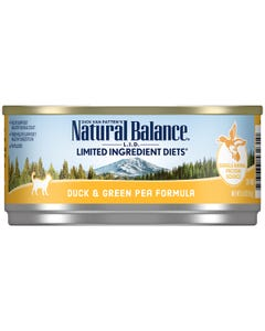 Natural Balance L.I.D. Canned Cat Food - Duck & Green Pea