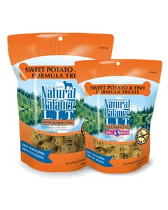 Natural Balance L.I.T. Biscuits - Sweet Potato & Fish Sizes