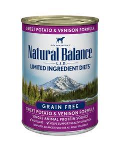 Natural Balance L.I.D. Canned Dog Food - Sweet Potato & Venison