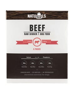 Naturawls Raw Dinners for Dogs - Beef Dinner