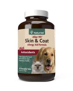NaturVet Aller-911 Skin & Coat Allergy Aid Tabs