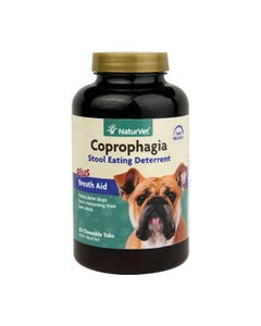 NaturVet Coprophagia Stool Eating Deterrent Plus Breath Aid Tablets