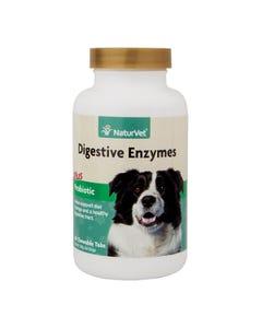 NaturVet Digestive Enzymes Plus Probiotic - 60 chewable tablets