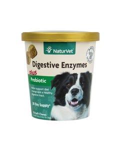 NaturVet Digestive Enzymes Plus Probiotic Soft Chew Cup