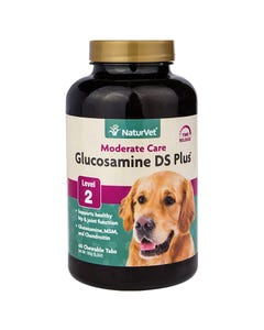 NaturVet Glucosamine DS Plus Level 2 Moderate Care - 60 Chewable Tablets