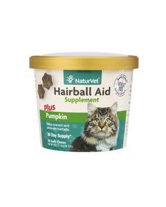 NaturVet Hairball Aid Soft Chew Supplement