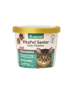 NaturVet VitaPet Senior Cat Daily Vitamins Soft Chews
