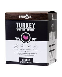 Naturawls Raw Dinners for Cats - Turkey & Beef Dinner