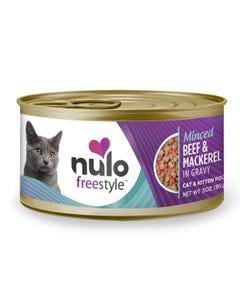Nulo Freestyle Minced Cat & Kitten Wet Food - Beef & Mackerel Recipe
