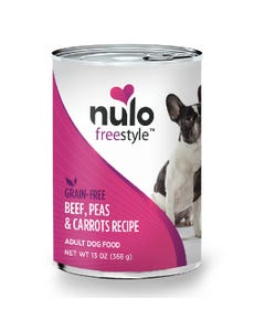 Nulo Freestyle Grain-Free Wet Food for Adult Dog Breeds - Beef, Peas & Carrots Recipe