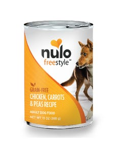 Nulo Freestyle Grain-Free Wet Food for Adult Dog Breeds - Chicken, Carrots & Peas Recipe