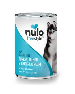 Nulo Freestyle Grain-Free Wet Food for Adult Dog Breeds - Turkey, Salmon & Chickpeas Recipe