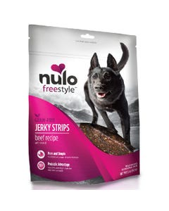 Nulo Freestyle Jerky Strips Dog Treats - Beef with Coconut Recipe