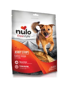 Nulo Freestyle Jerky Strips Dog Treats - Turkey with Cranberries Recipe