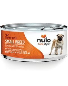 Nulo Freestyle Grain-Free Wet Food for Small Dog Breeds - Turkey & Lentils Recipe