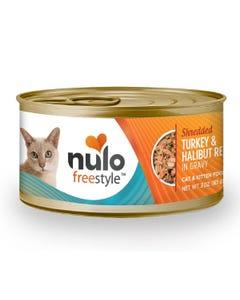 Nulo Freestyle Shredded Cat & Kitten Wet Food - Turkey & Halibut Recipe