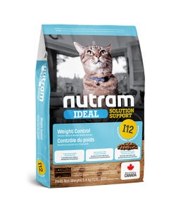 Nutram Ideal Solution Support I12 - Weight Control Cat Food - Chicken Meal & Pearled Barley Recipe