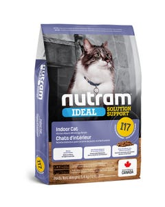 Nutram Ideal Solution Support I17 - Indoor Cat Food - Chicken Meal and Whole Eggs Recipe