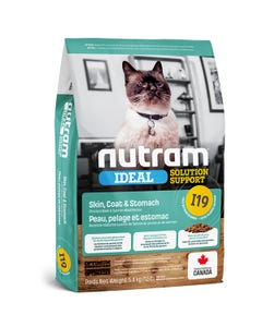 Nutram Ideal Solution Support I19 - Skin, Coat and Stomach Cat Food - Chicken Meal & Salmon Meal Recipe
