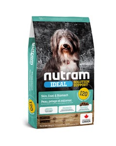 Nutram Ideal Solution Support I20 Skin, Coat and Stomach Dog Food - Lamb Meal & Brown Rice Recipe