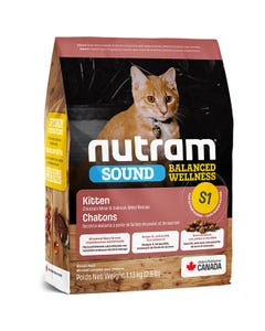 Nutram Sound Balanced Wellness Kitten Food - Chicken Meal and Salmon Meal Recipe