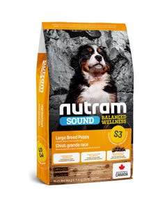 Nutram Sound Balanced Wellness S3 - Large Breed Puppy Food - Chicken Meal and Oatmeal Recipe