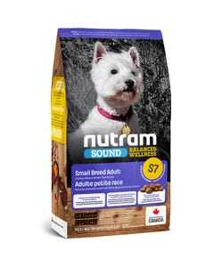 Nutram Sound Balanced Wellness S7 - Small Breed Adult Dog Food - Chicken Meal and Brown Rice Recipe