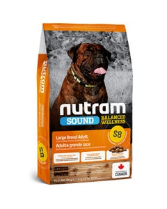 Nutram Sound Balanced Wellness S8 - Large Breed Adult Dog Food - Chicken Meal, Chicken and Oatmeal Recipe