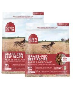 Open Farm Freeze Dried Raw Dog Food - Grass-Fed Beef Recipe