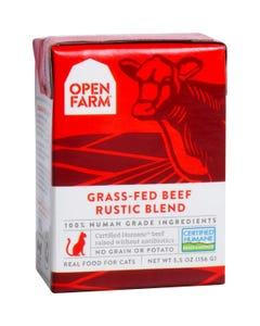 Open Farm Wet Cat Food - Grass-Fed Beef Rustic Blend