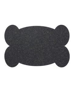 Ore' Pet Big Bone Black Recycled Rubber Pet Placemat