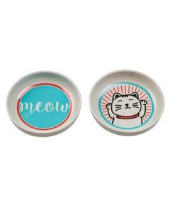 Ore' Pet Lucky Cat Pet Bowl Gift Set