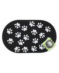 Ore' Pet Jumbo Paws Recycled Rubber Pet Placemat