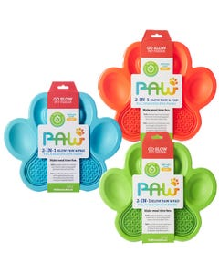 PetDreamHouse Paw 2 -In-1 Slow Paw & Pad Feeder For Dogs
