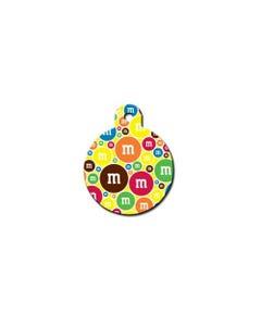 Pet ID Tag - M&M's Pattern Circle