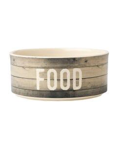 """Petrageous Farm Dog """"FOOD"""" Bowl"""