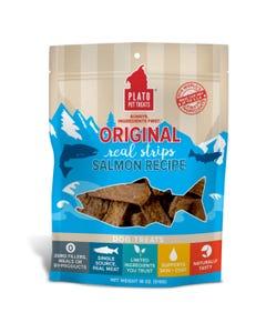 Plato Real Strips Salmon Meat Bar Dog Treats