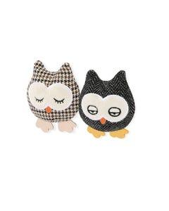 P.L.A.Y Feline Frenzy Plush Cat Toy Collection - Hooti-ful Owls
