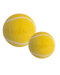 Playology Squeaky Chew Ball - Chicken Flavour