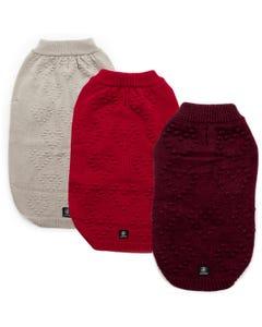 Silver Paw Pom Pom Heart Sweater