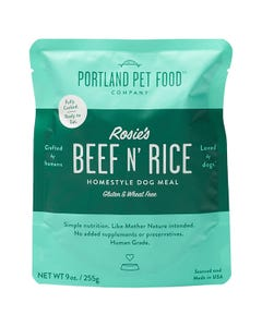 Portland Pet Food Company Rosies' Beef N' Rice Meal Pouch
