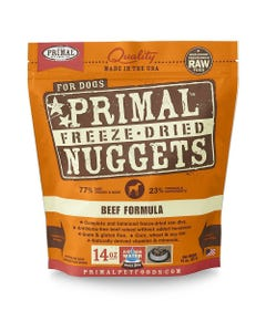 Primal Canine Freeze-Dried Nuggets - Beef Formula