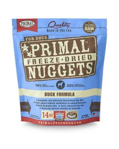 Primal Canine Freeze-Dried Nuggets - Duck Formula