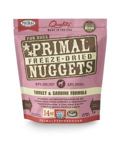 Primal Canine Freeze-Dried Nuggets - Turkey & Sardine Formula