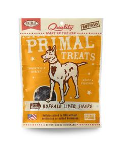 Primal Dry Roasted Buffalo Liver Chunks