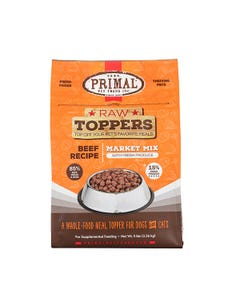 Primal Market Mix Raw Toppers - Beef
