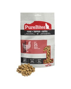 Purebites RAW Freeze Dried Complete & Balanced Food Topper for Cats - Chicken Recipe