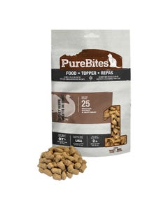 Purebites RAW Freeze Dried Complete & Balanced Food Topper for Cats - Turkey Recipe