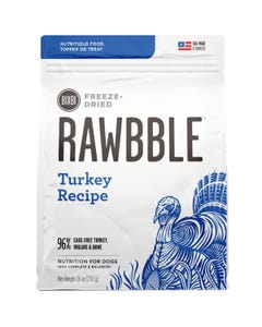 Bixbi Rawbble Freeze Dried Dog Food - Turkey